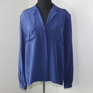 Vintage 100% Silk Blouse by Oleg Cassini